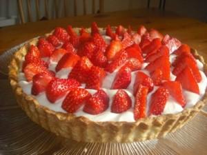 Omg Strawberry & White Chocolate Tart