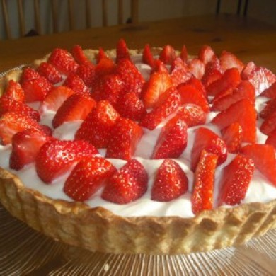 Omg Strawberry & White Chocolate Tart